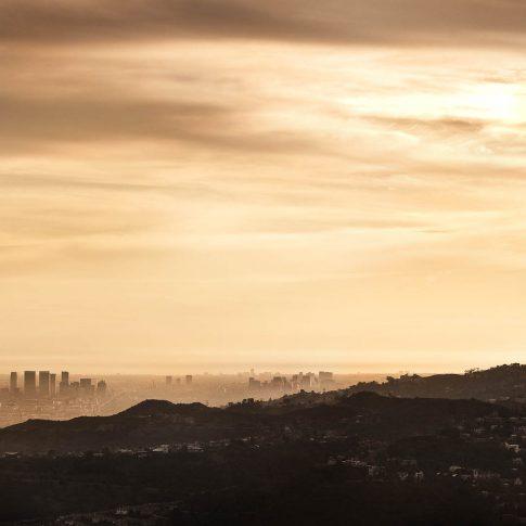 fotografie paesaggio posters los angeles skyline tramonto