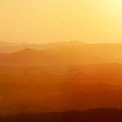 fotografie paesaggio posters tramonto rosso colline