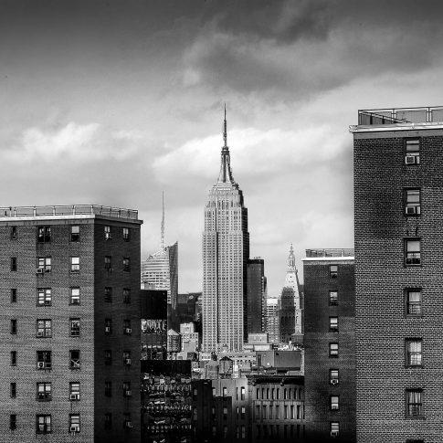 fotografie paesaggio posters empire state building black and white