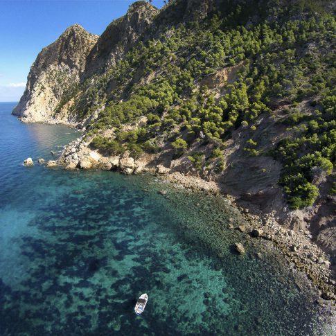 barca dal drone mare palma de mallorca spacegraphs